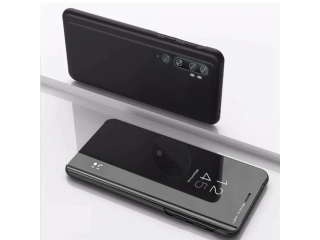 Xiaomi Mi Note 10 Flip Cover Clear View Flip Case transparent schwarz