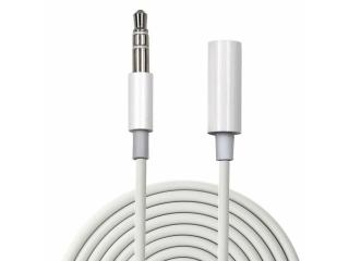 Kopfhörer Verlängerungskabel 3.5mm Audio Klinke 3-polig 1 Meter weiss