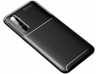 Realme X50 Pro 5G Carbon Design Hülle TPU Case Cover flexibel schwarz