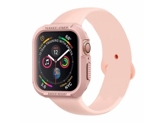 Rugged Armor Case Apple Watch Sport Hülle 44mm flexiblem TPU rosa