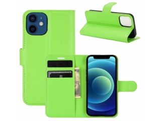iPhone 12 Leder Hülle Portemonnaie Karten Ledertasche hellgrün