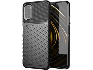 Xiaomi Poco M3 Stripes Anti Shock Case Hülle flexibel schwarz