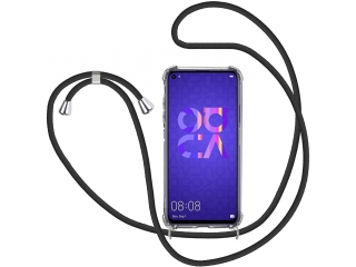 Huawei Nova 5T Handykette Necklace Hülle Gummi transparent clear