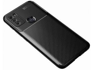 Motorola Moto G50 Carbon Design Hülle TPU Case flexibel schwarz