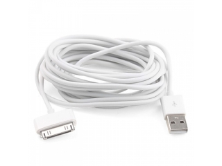 Apple 30-pin iPhone/iPad 3 Meter USB Lade- und Transferkabel